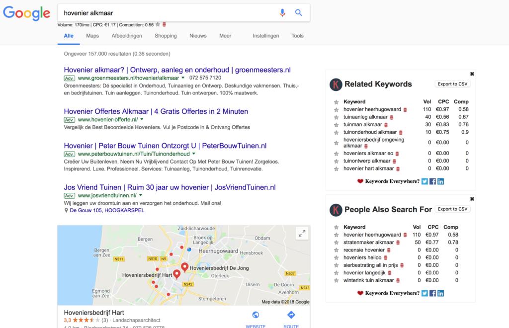 Met keywords everywhere krijg je beter inzicht in zoekgedrag