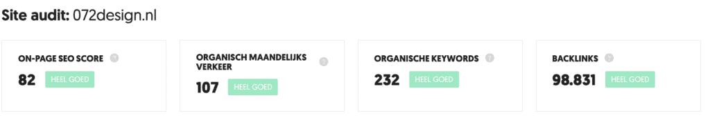 Doe een site audit via Ubersuggest